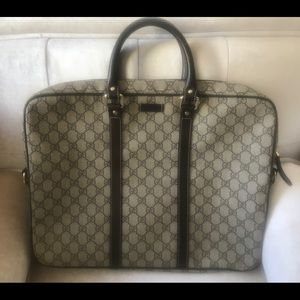 Used, GUCCI Unisex Laptop, Large Ipad bag. for sale